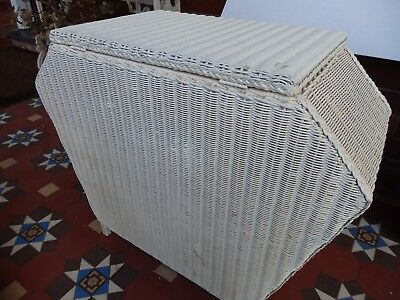 Vintage Wicker Laundry / storage hamper. Lloyd Loom??