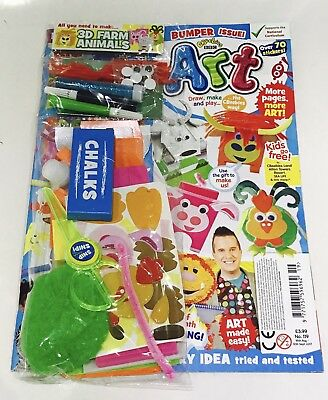 CBeebies ART Magazine #119 - FREE All You Need To Make Set! (NEW)