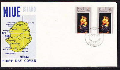 Niue 1972 Christmas First Day Cover - Unaddressed