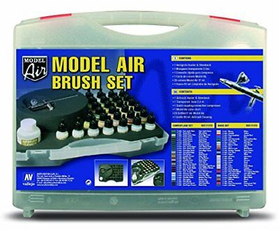Model Air - Basic Colours & Airbrush Set - Val71172 (U9e)