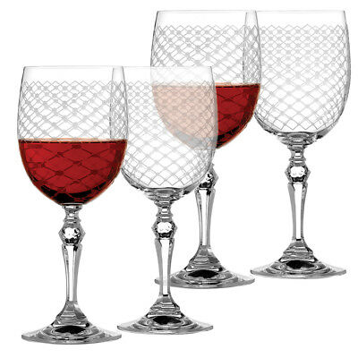 NEW Rona Helmsley Red Wine Glass Set 4pce 350ml