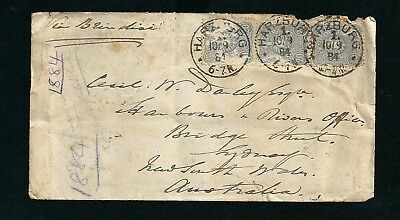 1884 Cover Harzburg Germany Postmark Cancellation to Sydney NSW Australia
