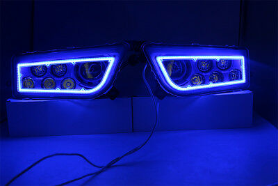 Polaris Rzr Xp 1000 & Turbo -Velocity Blue Angel Eye Rzr 900 Led Headlights Kit
