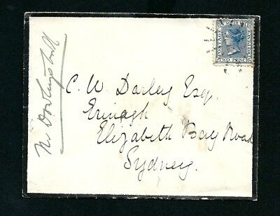 1886 Cover Yass NSW Postmark Numeral Cancellation to Sydney NSW