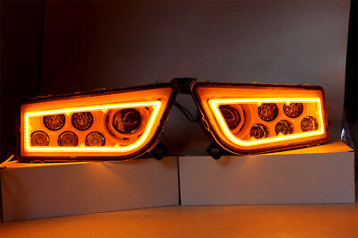2015-2017 Polaris Rzr 900 S Rzr Xp 1000 Turbo Orange Led & Angel Eye Headlights