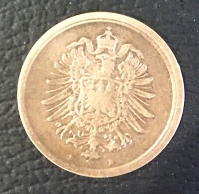 1888 Germany 1 Pfenning Coin Rare