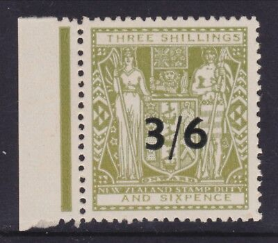 New Zealand Postal Fiscal 3/6 on non-serif type. Unhinged mint SGF213 Scott AR95