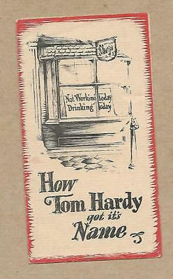 Vintage How Tom Hardy Got its Name Pamphlet Glenmore Distillieries Co. Kentucky