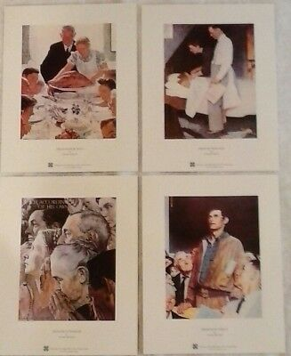 "Norman Rockwell Art Prints, Freedom Series, 4 prints on 8.5"" x 11"" card stock"