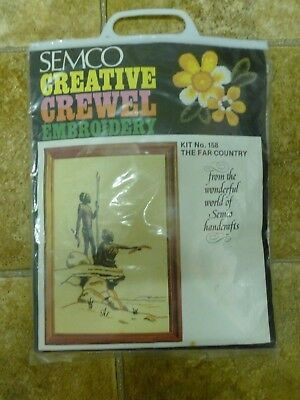 Vintage Semco Creative Crewel Embroidery Kit no 158 The Far Country