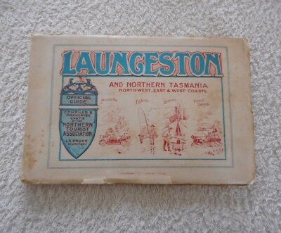 VINTAGE LAUNCESTON AND NORTHERN TASMANIA TOURIST BOOK Official Guide