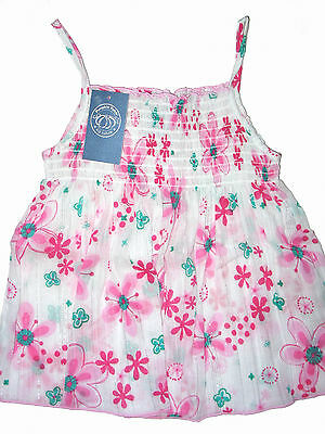 PUMPKIN PATCH Baby Girls Floral Shirred Babydoll Top . Size 1 . NWT . RRP $23