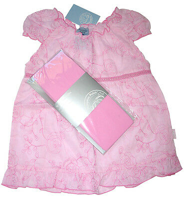 PUMPKIN PATCH Girls Pink Roses Floral Top  & Tights. Size 2 - 3 NWT . RRP $31.98
