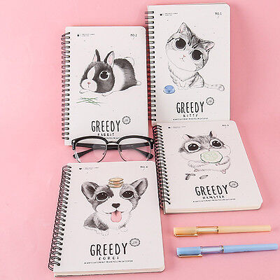 Cute Animal Portable Pocket Memo Notebook Journal Diary Notepad School Office