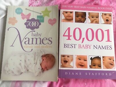Baby Name Books, 40001 baby names and 7000 baby names