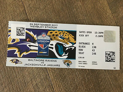 2 tickets nfl london 2017 jacksonville jaguars baltimore ravens wembley eur 4 50. Black Bedroom Furniture Sets. Home Design Ideas