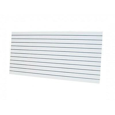 10 x Slatwall Sheets 2400x1200-White- Landscape 18mm Thick