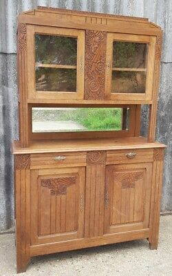 Antique French Cupboard Buffet Dresser Kitchen or Dining Room