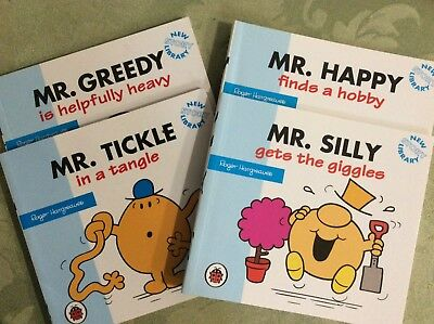MR MEN BOOKS (Mini) Happy Silly Tickle Greedy Roger Hargreaves E/C Bulk Lot