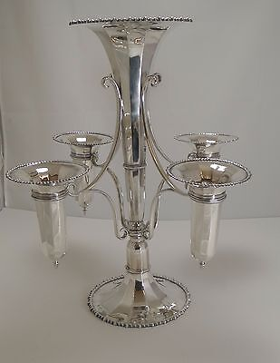 Magnificent Large Silver Plated Trumpet Epergne / Centerpiece c.1912