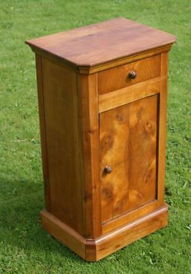 A FINE LATE 19th CENTURY FRENCH CHERRY  BEDSIDE CABINET