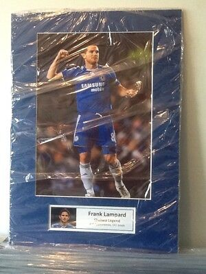 Frank Lampard Hand Signed Photo Mounted Display A3 Chelsea England Legend