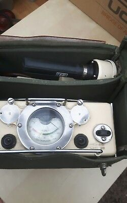 Vintage Geiger Counter - Collectible 1950's Radiation Nuclear War Fallout Cool