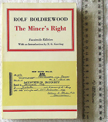 THE MINER'S RIGHT Tale of Aust NSW goldfields BOLDREWOOD 1st facsimile ed'n 1973