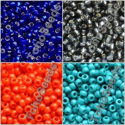 10g Toho Seed Beads size 06/0 Japanese 4mm Rocaille Glass Beads 75 COLOR