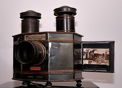 Antique Ensign Mirrorscope postcard projector in mainly original condition