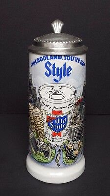 1981 Old Style Chicagoland lidded stein  196 of 500