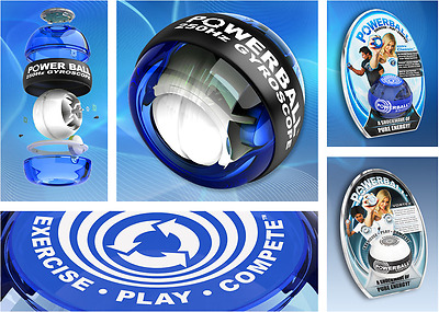 NEW NSD Powerball Regular Powerball - Blue, 250 Hz Exercise/Play/Compete/Sport