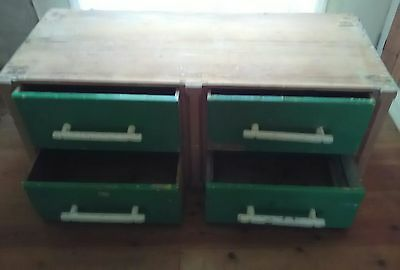 Lovely Victorian pine.painted haberdashery drawers