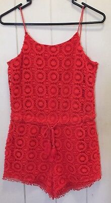 Witchery Girl Lace Playsuit - Size 14