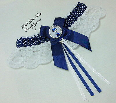 Minnie Mouse Disney Bridal Wedding Garter.
