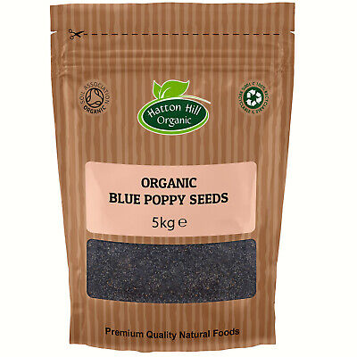 Organic Blue Poppy Seeds 5kg Certified Organic