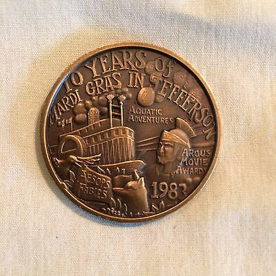 1983 Argus Antique Bronze Mardi Gras Doubloon