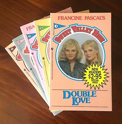 x5 Sweet Valley High books #1-5 by Francine Pascal