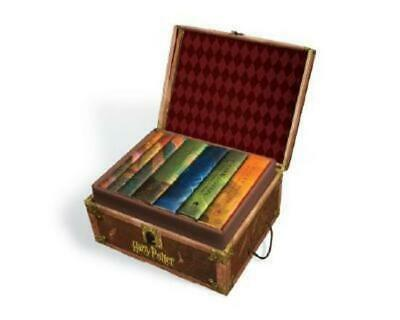 J. K. Rowling Harry Potter Hardcover Box Set in collectible trunk with stickers