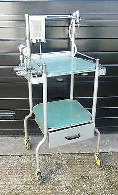 Vintage Unique Weird Fantastic Medical/Industrial Chic Drinks Trolley
