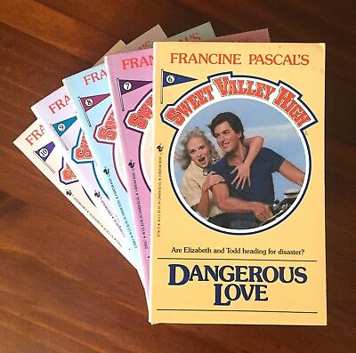 x5 Sweet Valley High books #6-10 by Francine Pascal