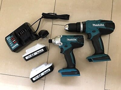 Brand New Makita 18v Twin Pack Combi Drill And Impact Driver 2 X 1.5ah Batteries