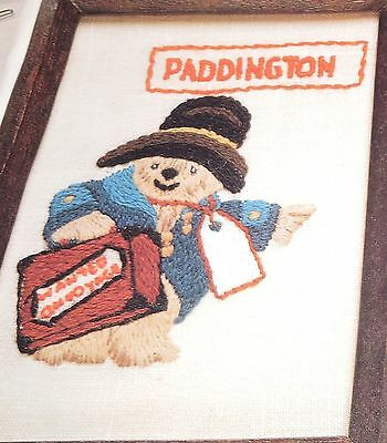 Traced Linen Crewel Semco Kit Paddington Bear Hitch-Hiker Bag Voyage Embroidery