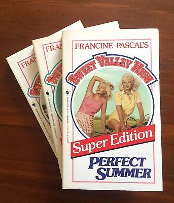 x3 Sweet Valley High, Super Edition books #1-3 by Francine Pascal