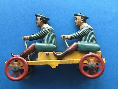 """Vintage tin penny toy """"Flying  Hollander"""" made in Germany."""