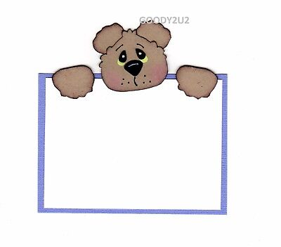 Handcrafted Teddy Tag/journal Box  Paper Piecing - Acid Free - Scrapbooking