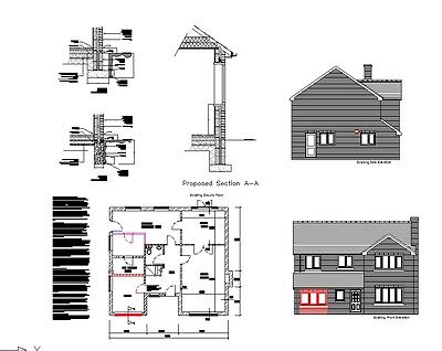 **sale** Garage Conversion Cad Plans - 2017 Planning & Building Regulations