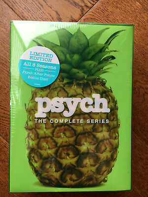 Psych: The Complete Series Season 1 2 3 4 5 6 7 8 ( DVD, 2014, 31-Disc Set) NEW