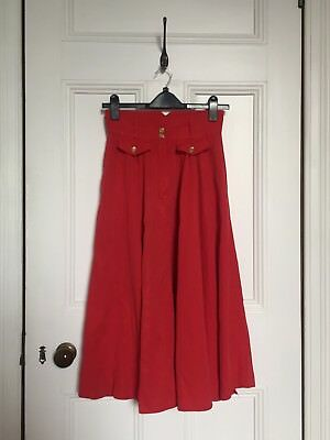 Beautiful Red Genuine Vintage Skirt S/XS