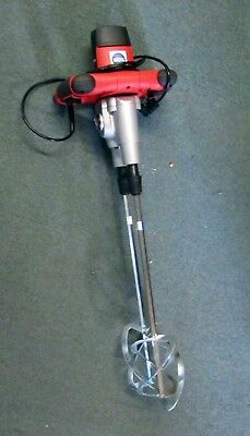 Twin Paddle Electric Plaster Mixer. 240 Volt Twin Paddle Paint Mixer 1400 Watt